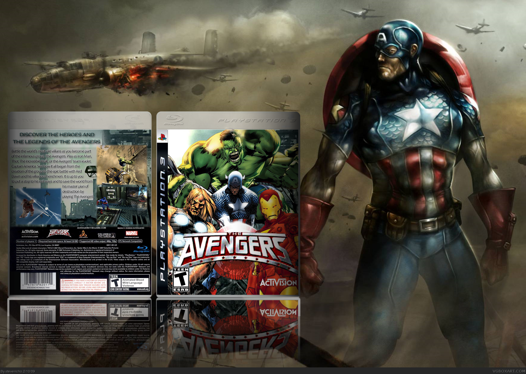 the avengers playstation 3 box art cover by stevencho