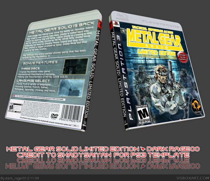 Metal Gear Solid: Limited Edition PlayStation 3 Box Art