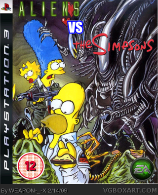 AVS: Aliens vs Simpsons box cover
