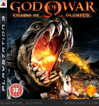 God Of War Chains Of Olympus box cover