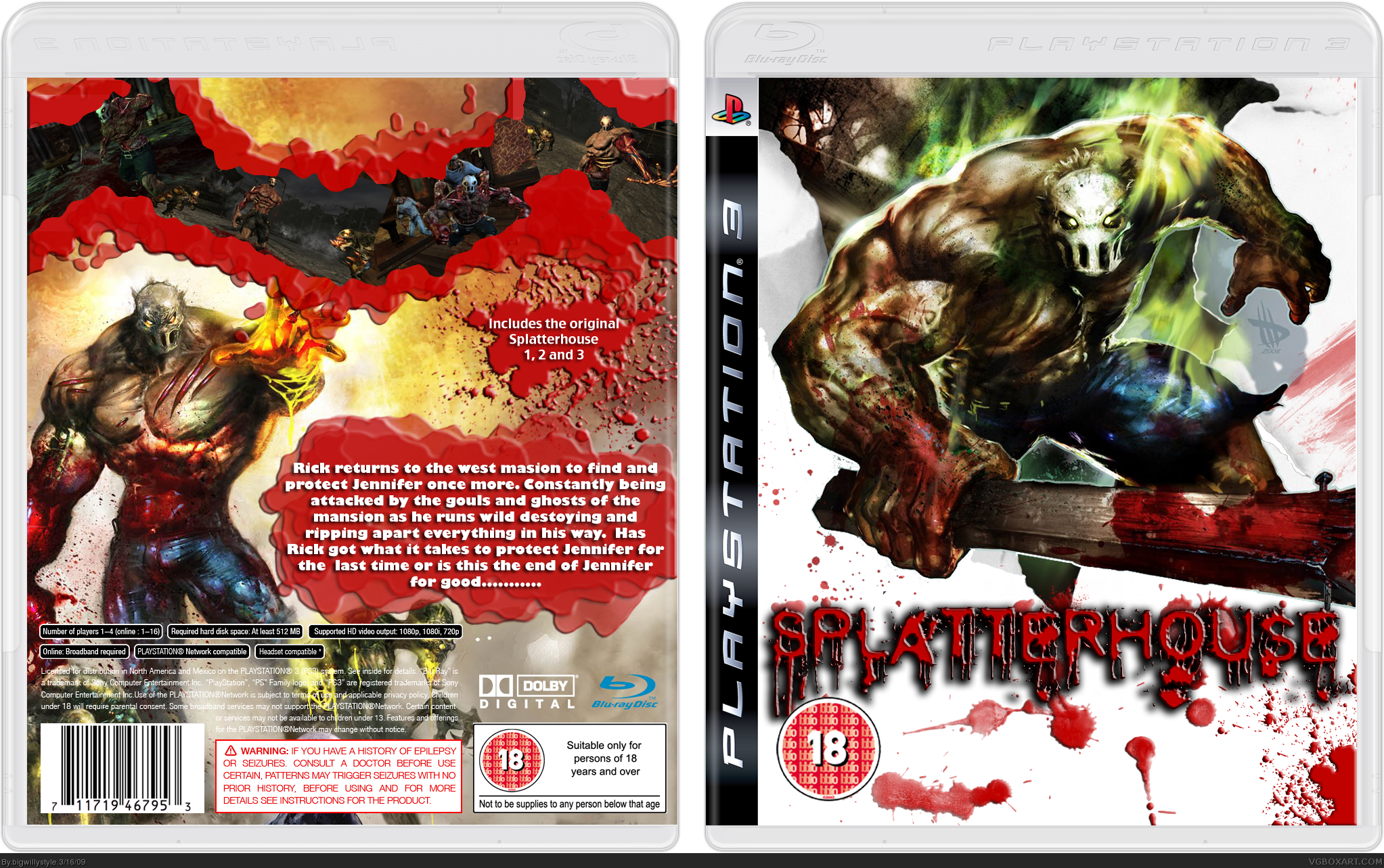Splatterhouse box cover