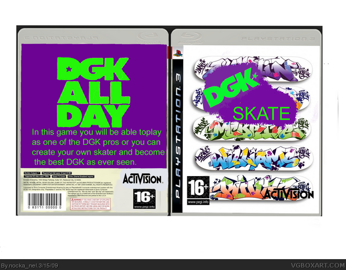 DGK SKATE box art cover