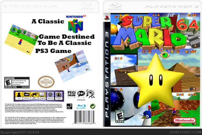Mario Games For Ps3 : Super mario playstation box art cover by spongey