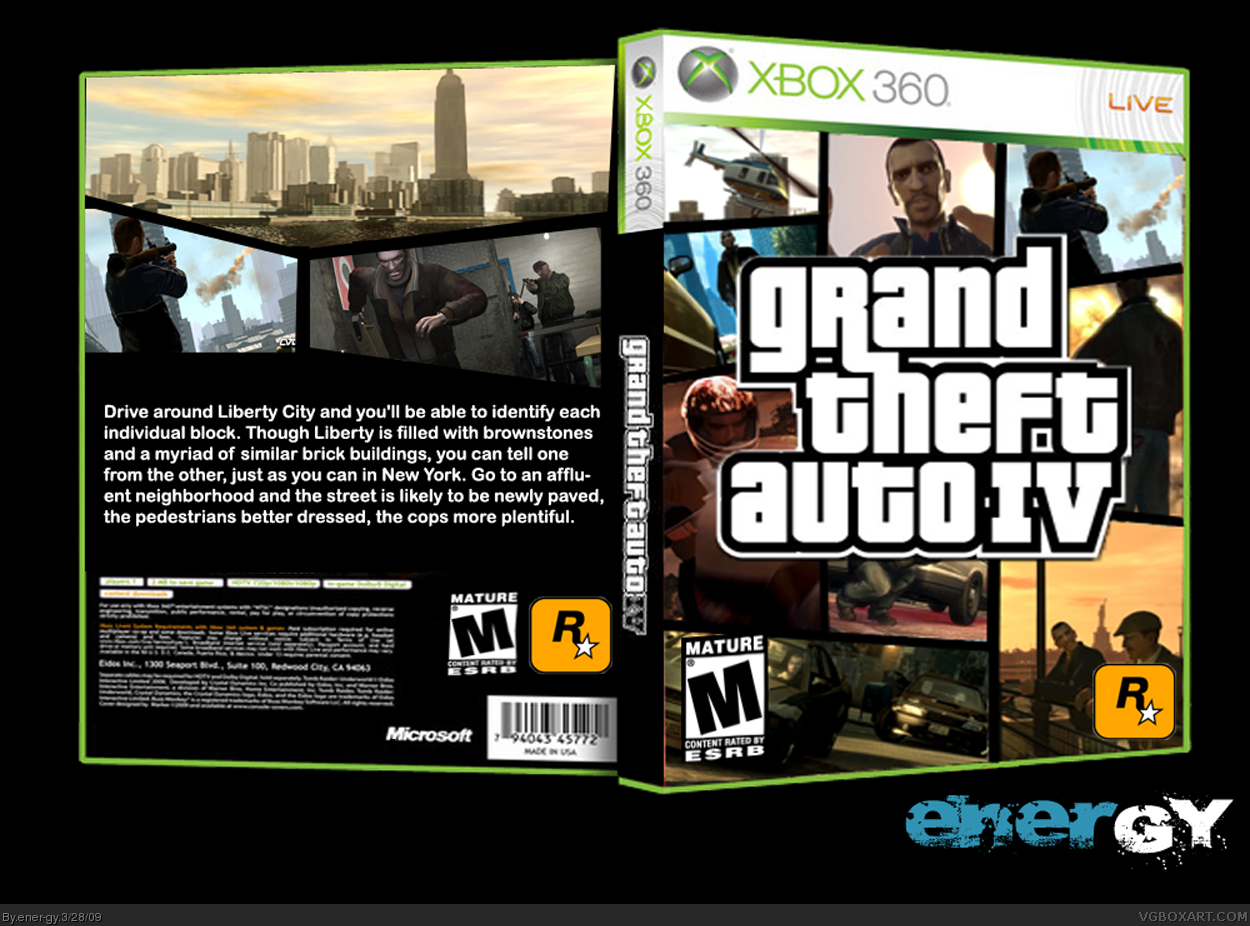 Gta 6 Cover: Grand Theft Auto IV PlayStation 3 Box Art Cover By Ener-gy