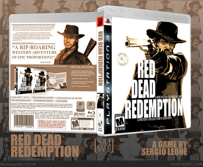 Red Dead Redemption PlayStation 3 Box Art Cover by smwayfarer