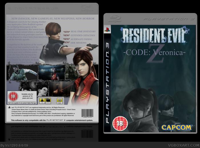 Resident Evil: CODE: Veronica Z PlayStation 3 Box Art