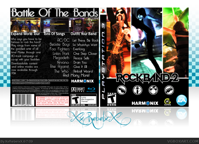 Rock Band 2 box art cover