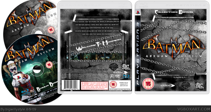 Batman: Arkham Asylum Collector's Edition box art cover