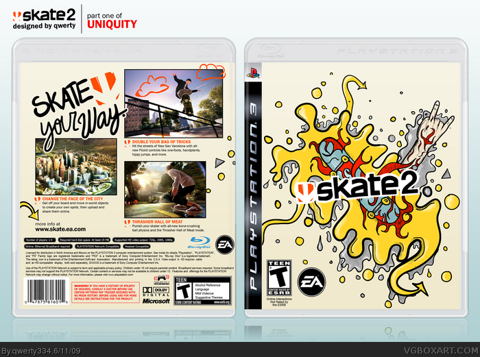 Skate Ps3 Cover Related Keywords & Suggestions - Skate Ps3 Cover