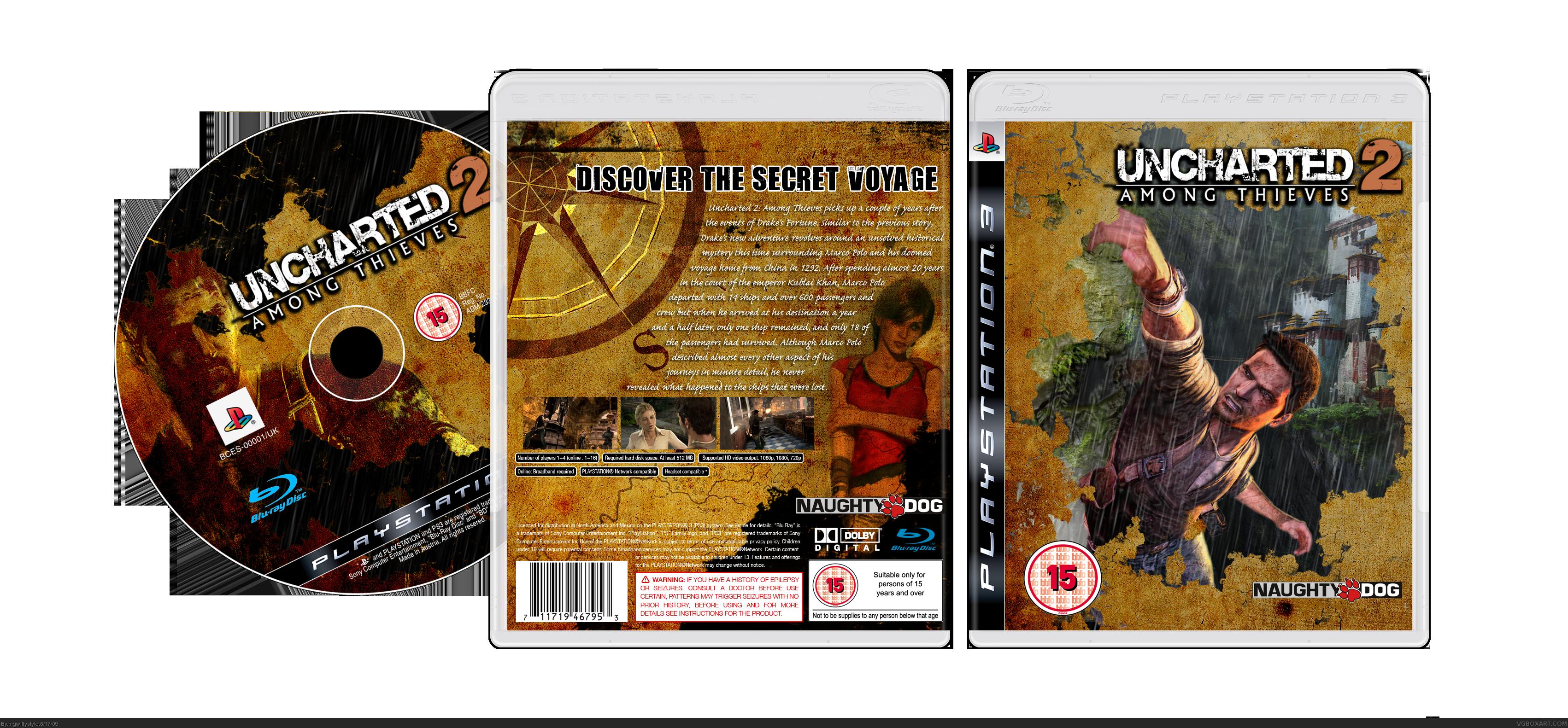 Uncharted 2: Among Thieves PlayStation 3 Box Art Cover by ...Uncharted 2 Among Thieves Cover