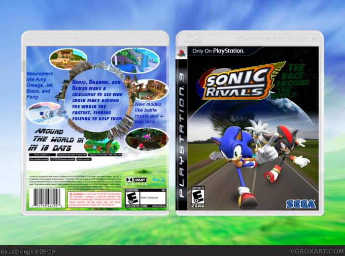 Sonic Rivals The Race Around The World Playstation 3 Box Art Cover By Js2kings