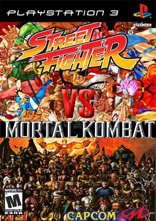 Street Fighter Vs Mortal Kombat Playstation 3 Box Art Cover By Hawaiian Dragon