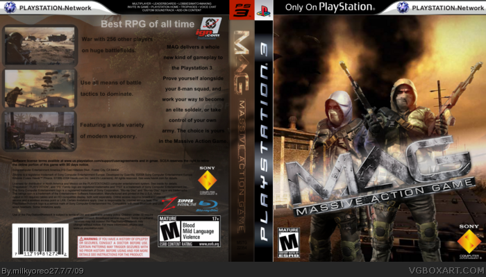 MAG - Massive Action Game PlayStation 3 Box Art Cover by ...