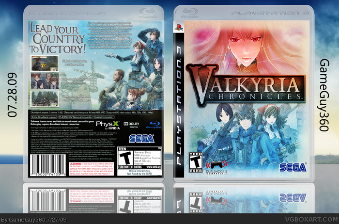 Valkyria Chronicles box art cover