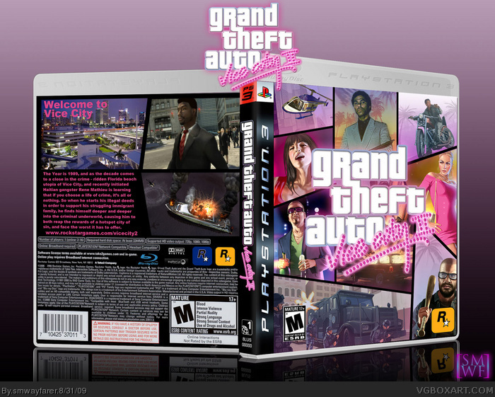 PlayStation 3 » Grand Theft Auto: Vice City 2 Box Cover
