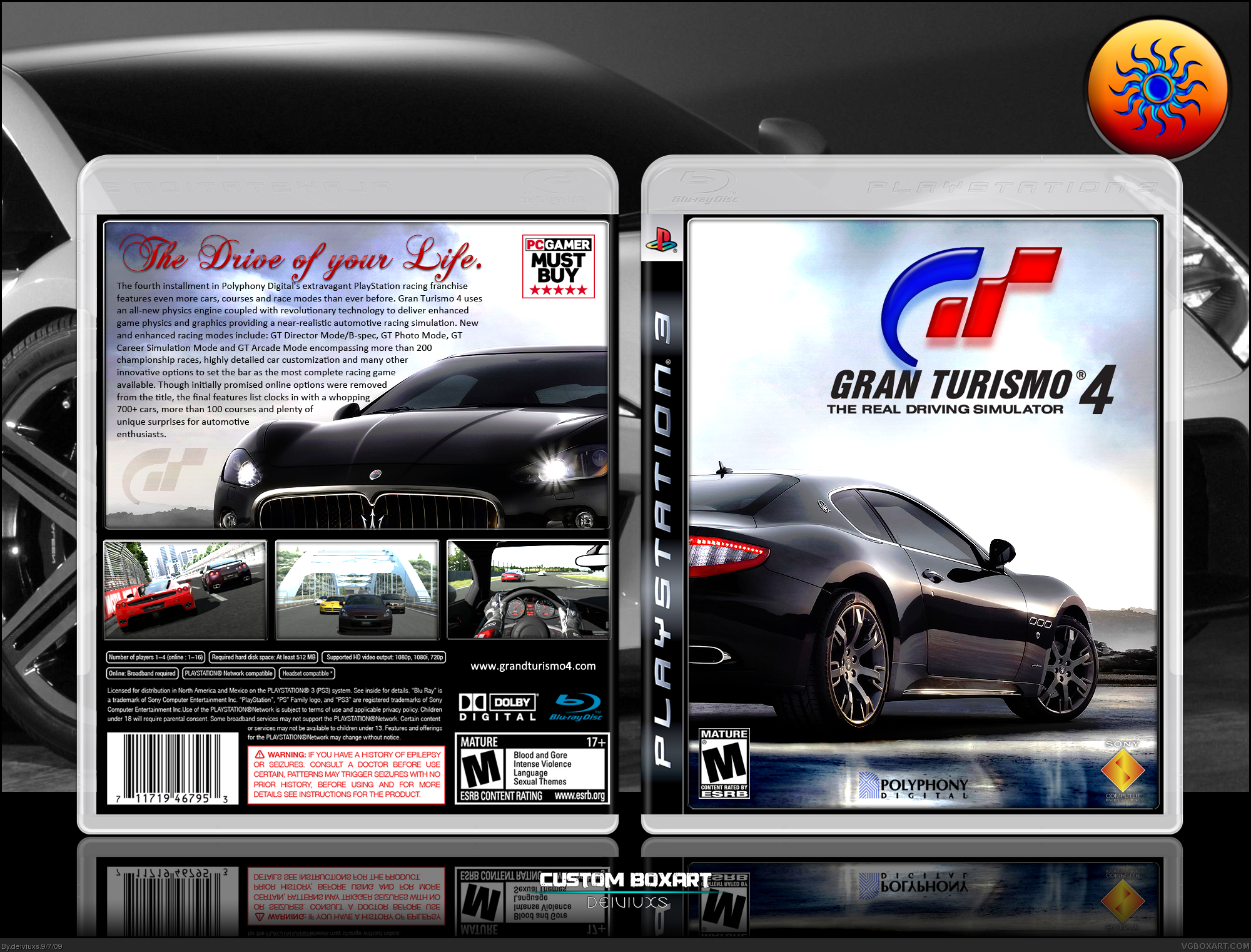 gran turismo 4 playstation 3 box art cover by deiviuxs. Black Bedroom Furniture Sets. Home Design Ideas