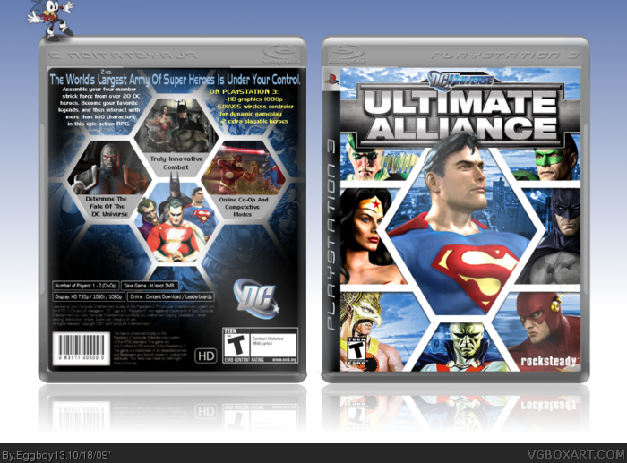 Dc Universe Ultimate Alliance Playstation 3 Box Art Cover