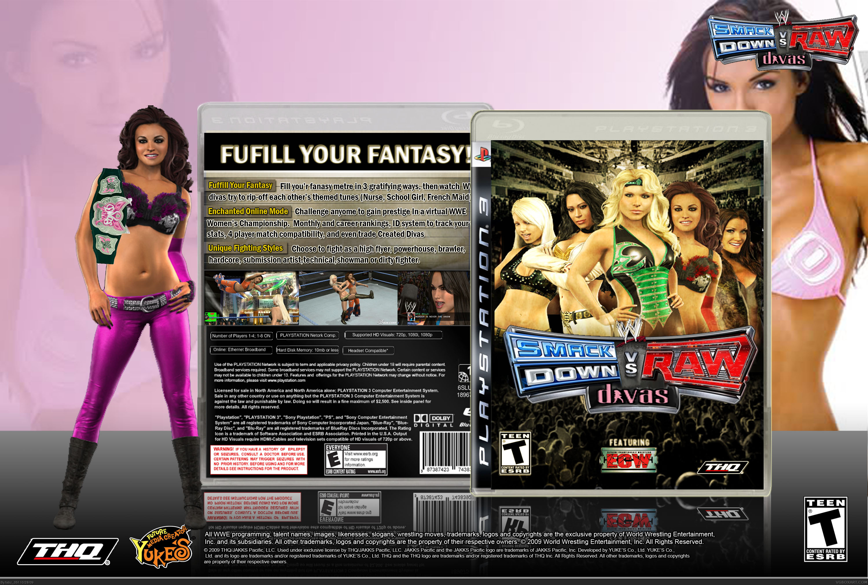 Viewing Full Size Wwe Smackdown Vs Raw Divas Box Cover