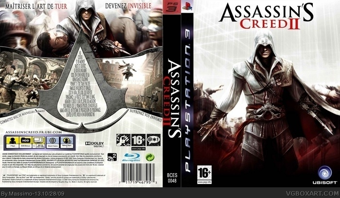 Assassin's Creed II PlayStation 3 Box Art Cover by Massimo-13