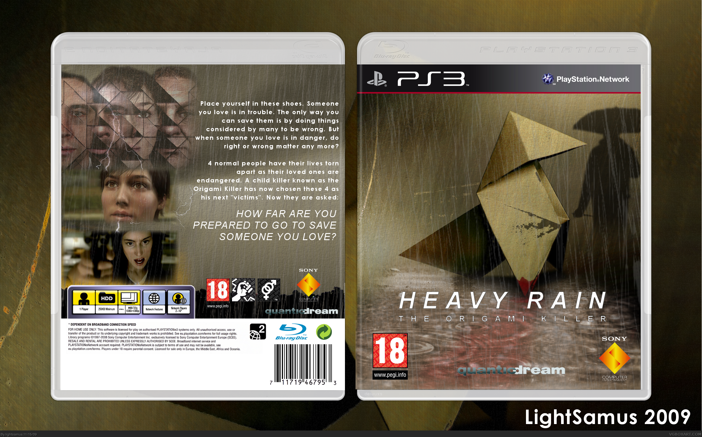 Viewing full size heavy rain box cover heavy rain box cover jeuxipadfo Image collections