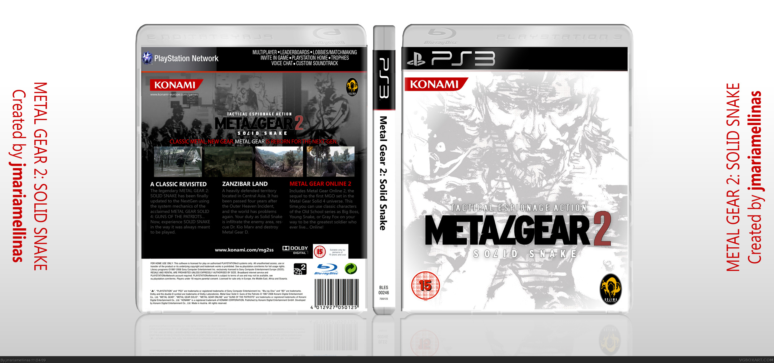 Viewing Full Size Metal Gear 2 Solid Snake Box Cover
