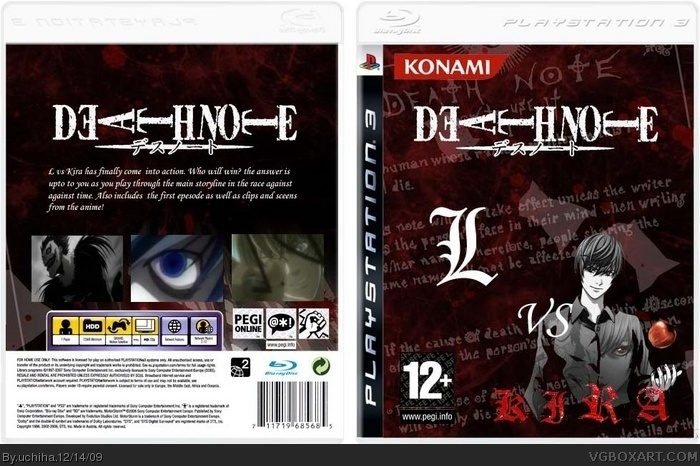 Death Note: L vs Kira box art cover