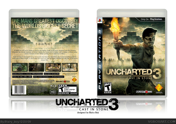 Uncharted 3: Cast In Stone box art cover