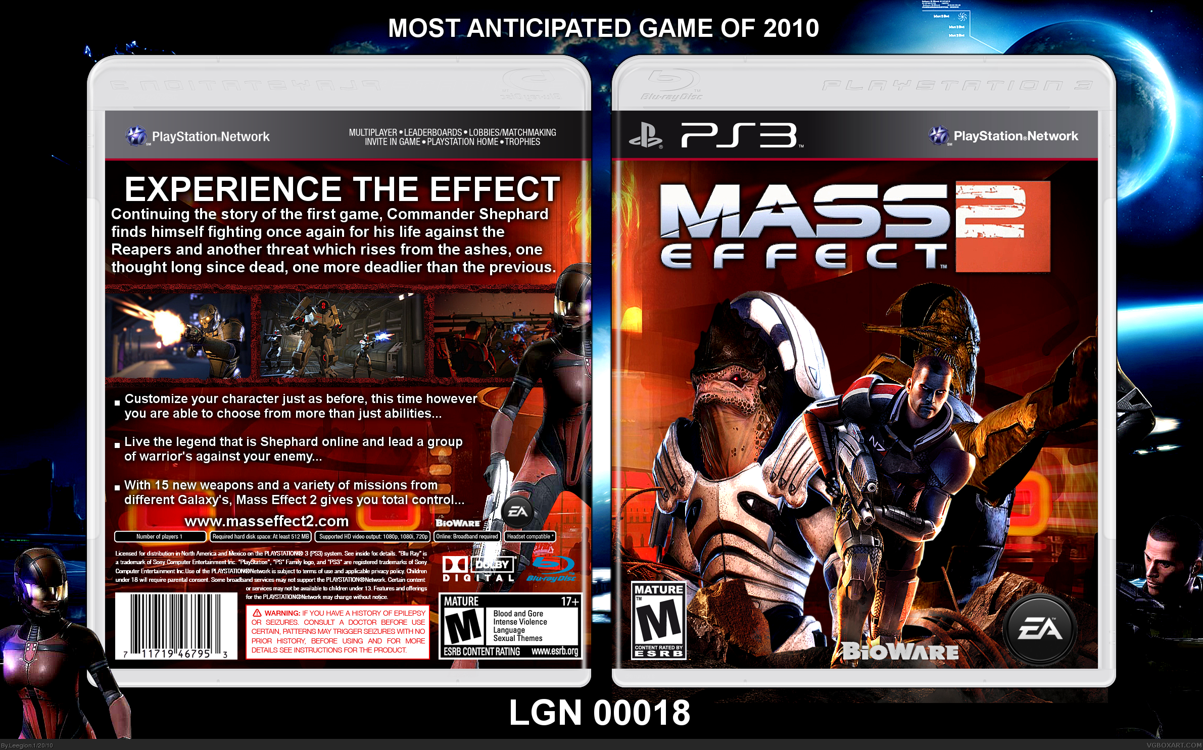 PlayStation 3 » Mass Effect 2 Box Cover