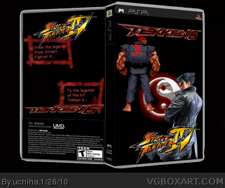 Tekken 6 vs Street Fighter 4 box art cover