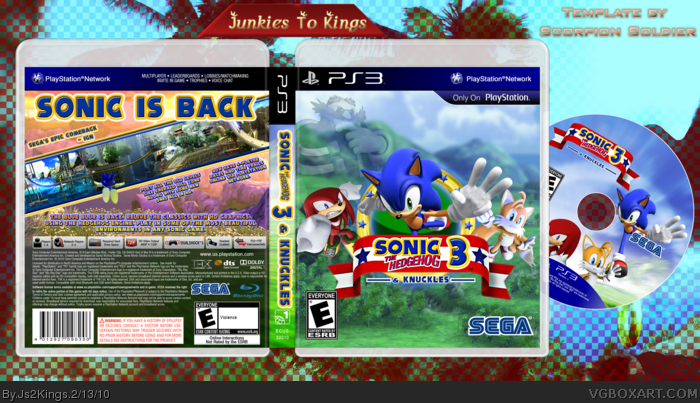 Sonic 3 & Knuckles box art cover