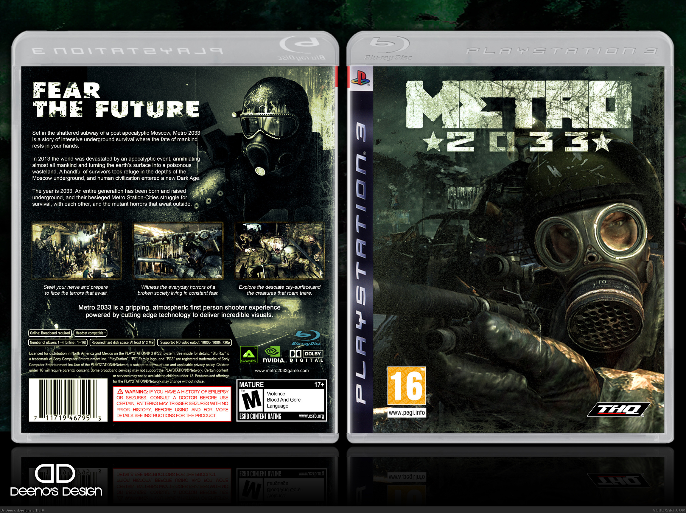 Metro 2033 PlayStation 3 Box Art Cover by DeenosDesigns2303