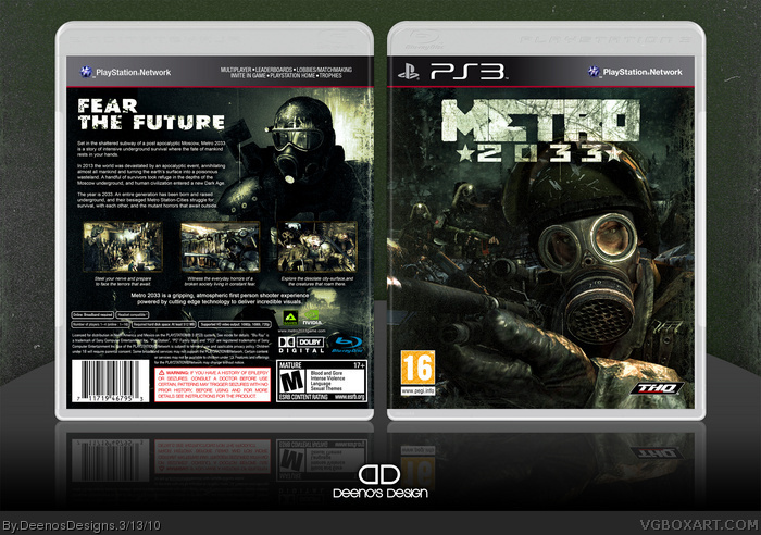 Metro 2033 Playstation 3 Box Art Cover By Deenosdesigns