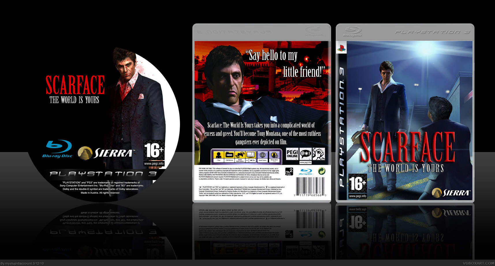 Viewing Full Size Scarface The World Is Yours Box Cover