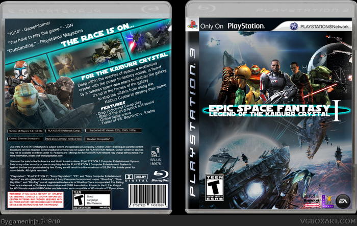 ESF I: Legend of the Kaiburr Crystal box art cover