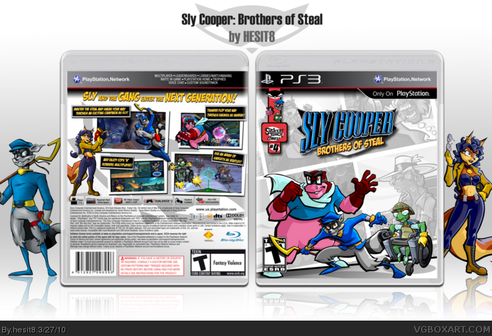 PlayStation 3 » Sly Cooper: Brothers of Steal Box Cover