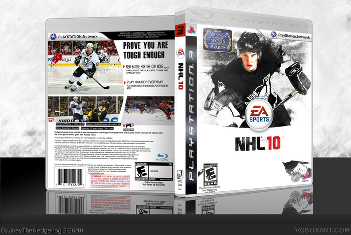 NHL 10 box art cover