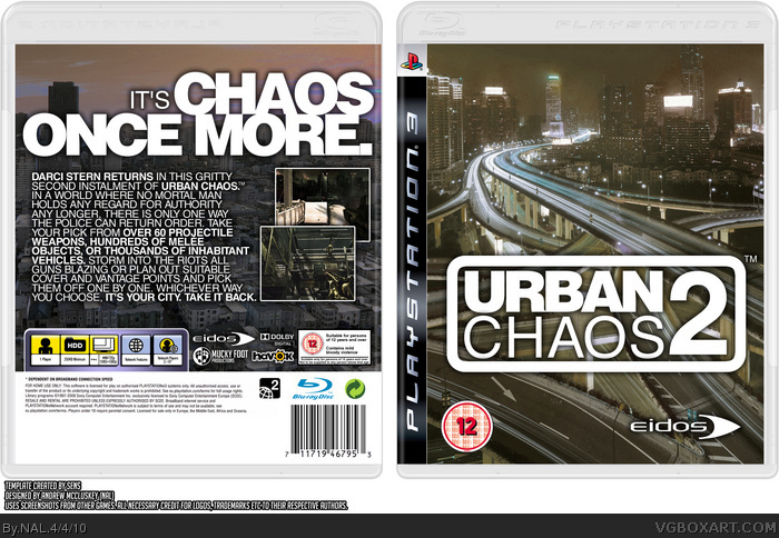 Urban Chaos 2 Playstation 3 Box Art Cover By Nal