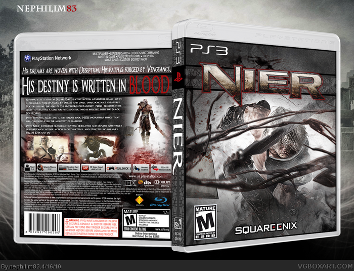 Playstation 3 nier box cover