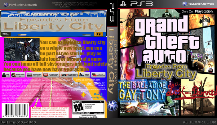 GTA episodes from liberty city box art cover