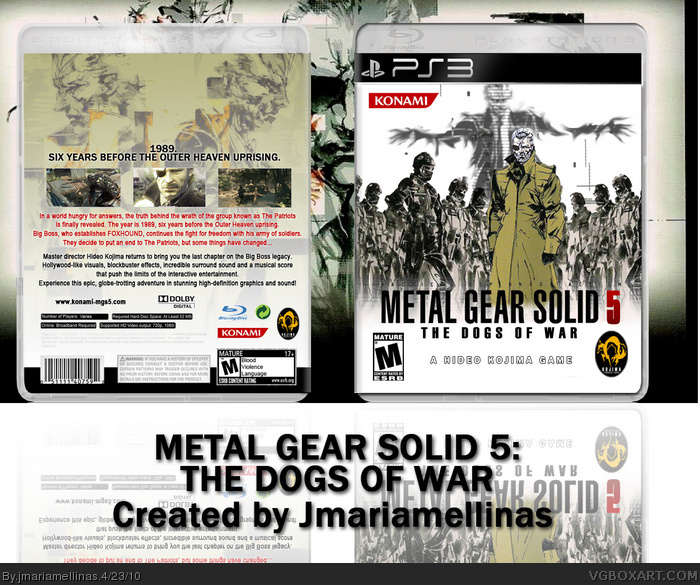 Metal Gear Solid 5: The Dogs of War box art cover