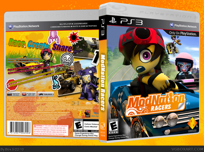 ModNation Racers box art cover