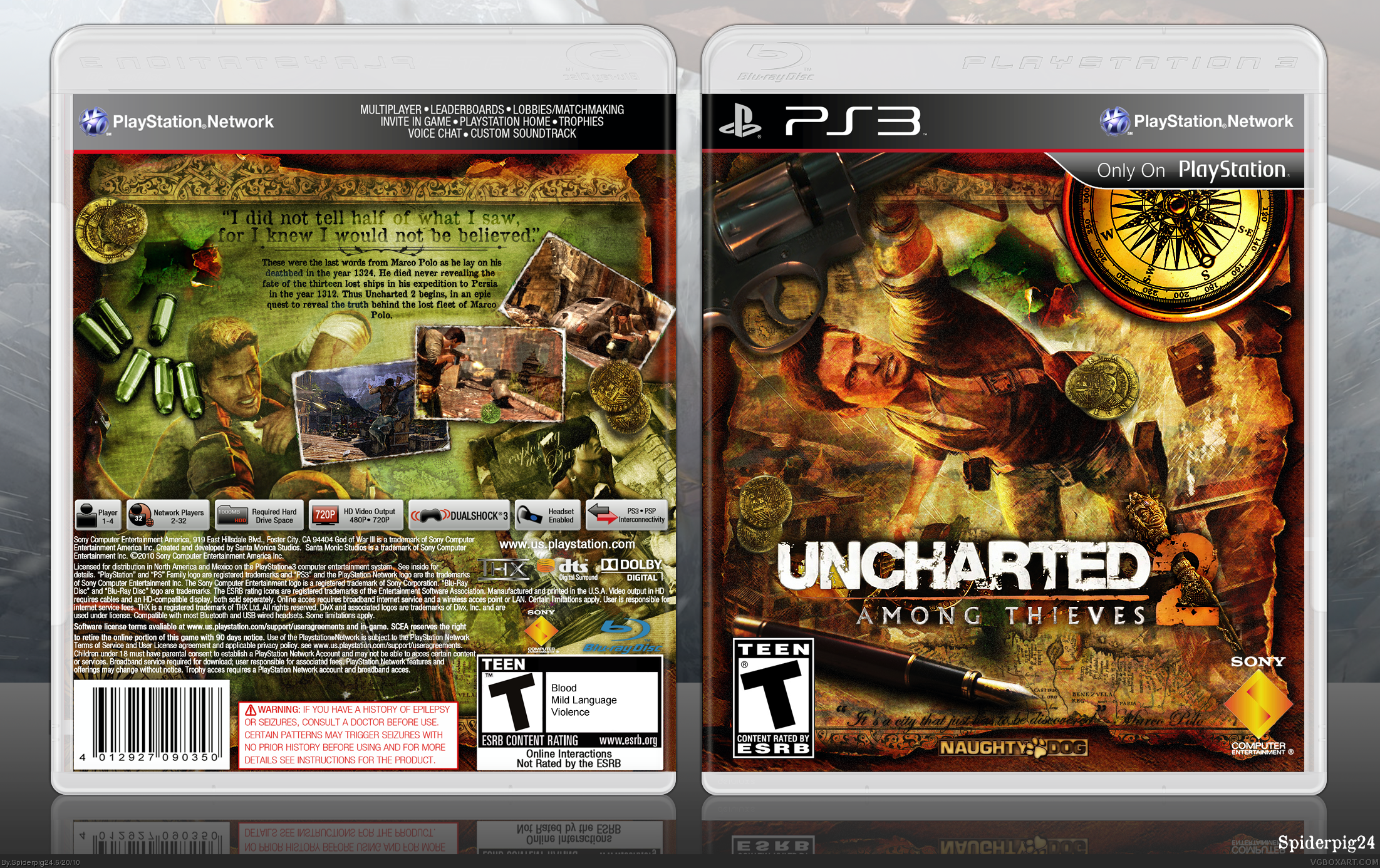 Uncharted 2: Among Thieves box cover