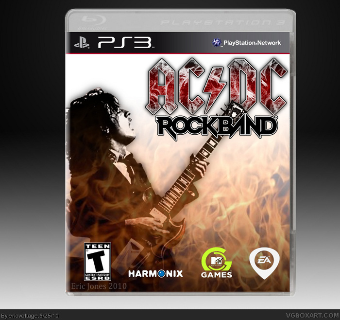 AC/DC: Rock Band box art cover