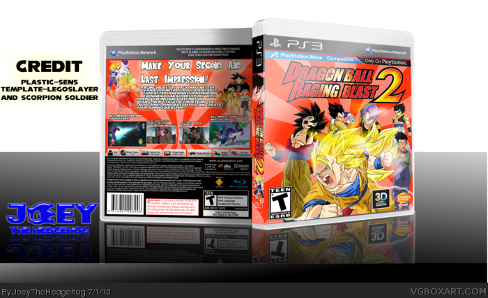 PlayStation 3 » Dragon Ball Raging Blast 2 Box Cover
