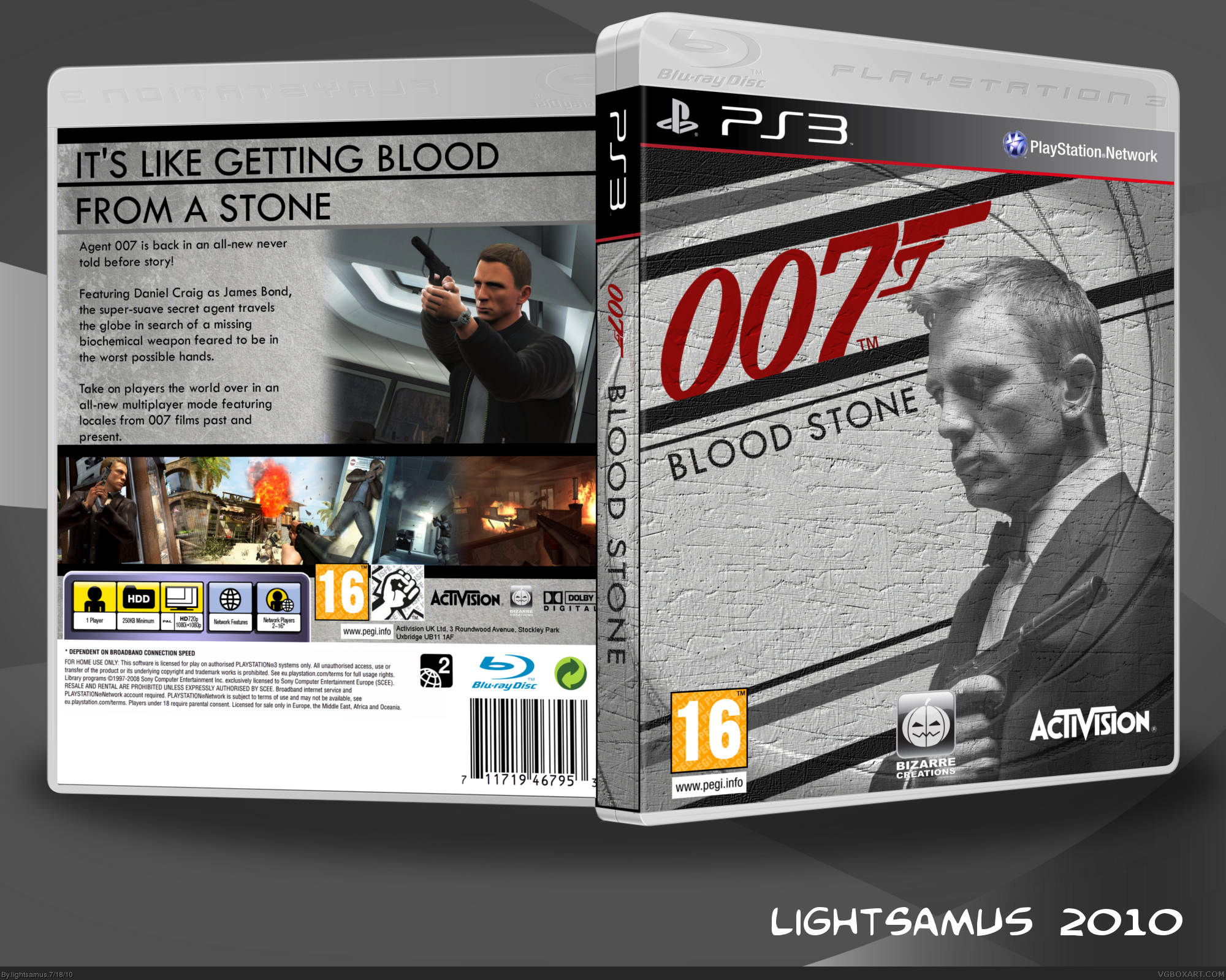 New 007 Game For Ps3 : Blood stone playstation box art cover by lightsamus