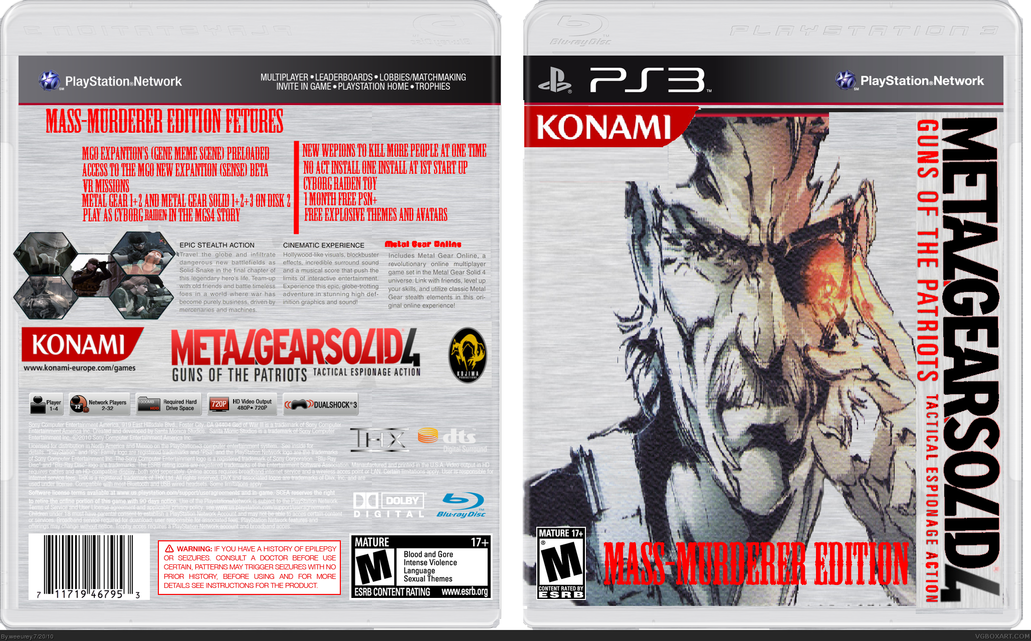 Metal Gear Solid 4: Murder Edition box cover