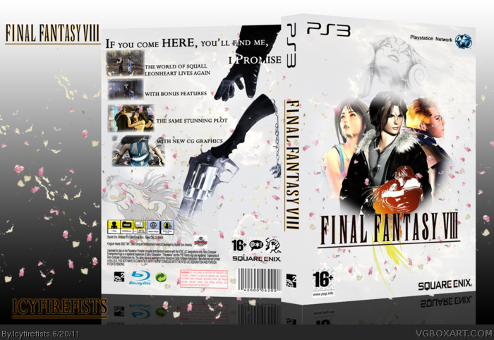 Final fantasy viii playstation 3 box art cover by icyfirefists for Final fantasy 8 architecture