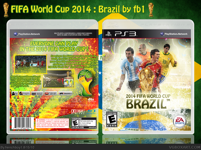PlayStation 3 » FIFA World Cup 2014 Brazil Box Cover