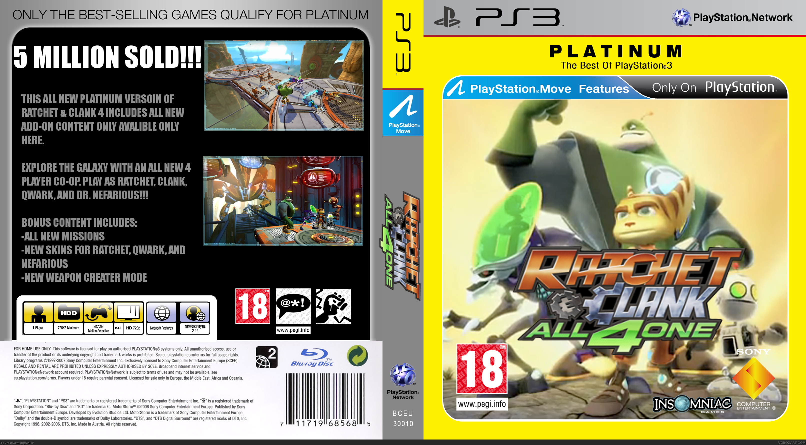 Viewing Full Size Ratchet Clank All 4 One Box Cover