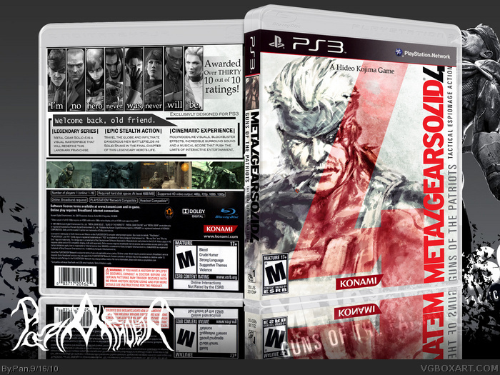 Metal Gear Solid 4: Guns Of The Patriots box art cover